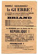 TRACT DE L'ACTION FRANCAISE . DEMAIN LA GUERRE - 1939-45