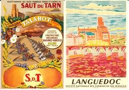 Lot De 2 CPM Publicitaires : ALBI (Saut Du Tarn TALABOT - Cathédrale Albi) - Albi