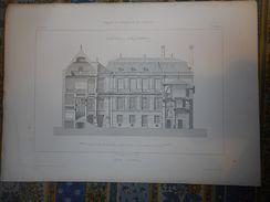 PARIS ANCIEN HOTEL LAMBERT 15 GRAVURES  PLAN  Provenance PALAIS ET CHATEAUX DE FRANCE 1867 - Architecture
