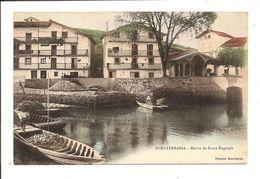 Old Postcard FUENTERRABIA - Barrio De Santa Engracia ( Vente Directe) Colorisée - Andere