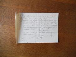 AVRANCHES LE 28 OCTOBRE 1871 RECU DE M. LOUIS DELANOË CULTIVATEUR A PRECY EN ACQUIT DES DROITS MINEURS RENAULT - Manoscritti