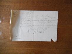 AVRANCHES LE 21 SEPTEMBRE 1871 EMMANUEL PICHOT CULTIVATEUR AU LUOT RECU DE M. LOUIS MICHEL DELANOË CULTIVATEUR A PRECY - Manuscripts