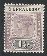 Sierra Leone, 1 1/2 P. 1897, Sc # 36, Mi # 26, MH. - Sierra Leone (...-1960)