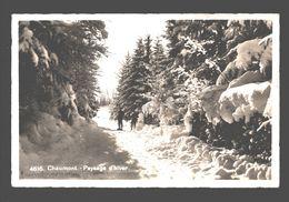Chaumont-sur-Neuchatel / Chaumont - Paysage D'hiver - Publicité Chaumont & Golf Hotel - 1955 - NE Neuchatel