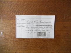 LA HAYE-PESNEL LE 4 JANVIER 1893 Me LOUIS JOUENNE NOTAIRE RECU DE M. LOUIS BRIAULT PROPRIETAIRE AU LUOT OUVERTURE DU TES - Manoscritti