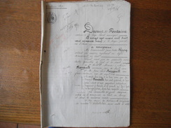 LUOT LE 27 MARS 1869 VENTE PAR EMMANUEL LECOQ SOLDAT DU 6e REGIMENT DE LIGNE A M. JEAN-LOUIS RENAULT CORPS DE BATIMENTS, - Manoscritti