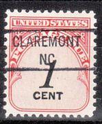 USA Precancel Vorausentwertung Preo, Locals North Carolina, Claremont 841 - Vereinigte Staaten