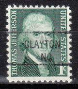 USA Precancel Vorausentwertung Preo, Locals North Carolina, Clayton 841 - Vereinigte Staaten