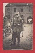 Carte Photo --  Soldat Allemand - Guerre 1914-18