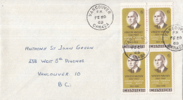 Canada - FDC 20-02-1969 - Vincent Massey, Generalgouverneur Von Kanada (1952-1959) - M 433 Blok Van Vier - 1961-1970