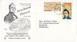 Canada - FDC 7-05-1971 - 100 Todestag Von Louis Joseph Papineau/Samuel Hearne Zum Copper Mine River - M 479-480 - 1971-1980