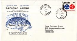 Canada - FDC 1-06-1971 - 100 Jahre Volkszählungen In Kanada - M 481 - Omslagen Van De Eerste Dagen (FDC)
