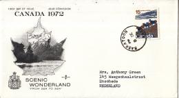 Canada - FDC 8-09-1972 - Landschaftsbilder - Dickhornschafe Rocky Mountains - M 507 - Omslagen Van De Eerste Dagen (FDC)