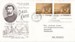 Canada - FDC 11-08-1971 - 100. Todestag Des Malers Paul Kane (1810-1871) - M 486 - Omslagen Van De Eerste Dagen (FDC)