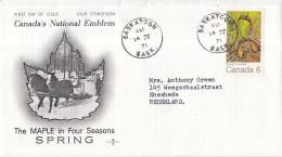 Canada - FDC 14-04-1971 - Der Ahorn In Den 4 Jahreszeiten (I): Frühling - M 478 - Omslagen Van De Eerste Dagen (FDC)
