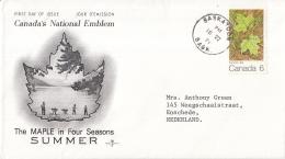 Canada - FDC 16-06-1971 - Der Ahorn In Den 4 Jahreszeiten (II): Sommer - M 483 - Omslagen Van De Eerste Dagen (FDC)