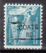 USA Precancel Vorausentwertung Preo, Locals North Carolina, Coats 835,5 - Vereinigte Staaten