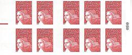 FRANCE - BOOKLET / CARNET, Yvert 3419-c5 - 2002 - Marianne Du 14 Juillet, 10x TVP Red - Carnets