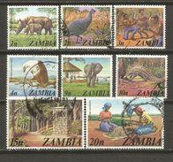ZAMBIA 1975 VARIOS DE LA MISMA SERIE USADOS - Zambia (1965-...)