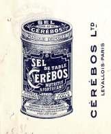 CEREBOS  Sel De Table   Levallois-Perret   Fiscal  1913   Belle Illustration - Bills Of Exchange