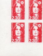 N°2614d  Faux De Barcelonne Non Dentele En Blos De Quatre** - Unused Stamps