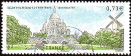 Oblitération Cachet à Date Sur Timbre De France N° 5124 Paris - Butte Montmartre -> Sacré Coeur, Moulin - France