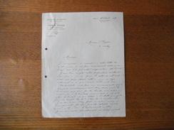 CORBIE SOMME FABRE FRERES ARCHITECTES-EXPERTS 10 RUE VICTOR-HUGO COURRIER DU 31 AOUT 1926 - Manuscripts