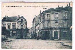 92  FONTENAY  AUX  ROSES  RUE  DES  CHATAIGNIERS  PRISE  DE LA PLACE  CARNOT   TBE  1Z490 - Fontenay Aux Roses