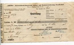 """Autriche Austria Österreich Ticket QUITTUNG """" AZIENDA """" Austria - France Society 1883 - Austria"""