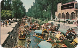 Xochimilco, D.F. - Trajineras Decorades Con Flores - Flower-decked Boats - Floating Gardens - (Mexico) - Mexico