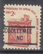 USA Precancel Vorausentwertung Preo, Locals North Carolina, Cooleemee 841 (d9) - Etats-Unis