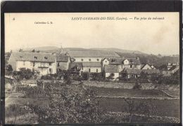 48165 . SAINT GERMAIN DU TEIL . VUE PRISE DU SUD OUEST . (recto/verso)   COLL. C. B. - Frankrijk