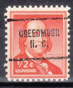 USA Precancel Vorausentwertung Preo, Locals North Carolina, Creedmoor 704 - Vereinigte Staaten