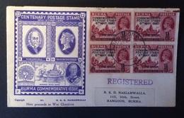 Myanmar-Birmanie Centenary Postage Stamp 06-05-1940 - Myanmar (Burma 1948-...)