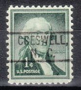 USA Precancel Vorausentwertung Preo, Locals North Carolina, Creswell 802 - Vereinigte Staaten