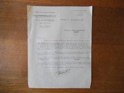 SAINT-ETIENNE HENRY FONTANILLES & Cie MANUFACTURE DE SOIERIES & RUBANS 12 RUE PRAIRE COURRIER DU 30 DECEMBRE 1938 - France