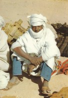 CARTOLINA VIAGGIATA 1963 LIBIA FEZZAN COSTUME (CT536 - Libya