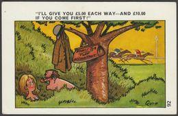 Comic, Saucy Seaside - Turf Accountant By Quip, C.1960s - Sapphire Postcard - Humour