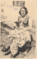 CARTOLINA NON VIAGGIATA 1940ALBANIA TIRANA -FOTO DONNA (CT700 - Albanie