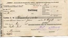 """Autriche Austria Österreich Ticket QUITTUNG """" AZIENDA """" Austria - France Society 1885 # 1 - Autriche"""