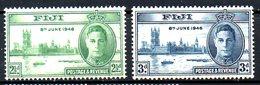 FIDJI. N°125-6 De 1946. Victoire. - 2. Weltkrieg