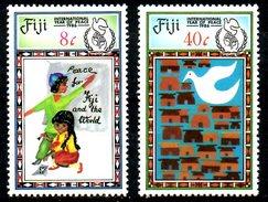 FIDJI. N°543-4 De 1986. Année Internationale De La Paix. - Fidji (1970-...)