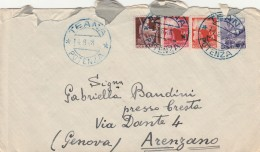 LETTERA CON 6+4+3+2 LIRE TIMBRO (BLU) TEANA POTENZA-ARENZANO (CT790 - 1946-.. République