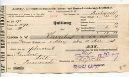 """Autriche Austria Österreich Ticket QUITTUNG """" AZIENDA """" Austria - France Society 1886 # 1 - Austria"""