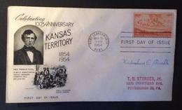 USA Etats Unis First Day Of Issue 31-05-1954 - Ersttagsbelege (FDC)