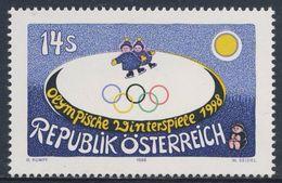 Austria Österreich 1998 Mi 2243 ** Ice-skaters, Painting / Eisläufer, Gemälde Gottfried Kumpf (*1930) - Winter 1998: Nagano