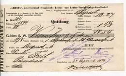 """Autriche Austria Österreich Ticket QUITTUNG """" AZIENDA """" Austria - France Society 1886 # 2 - Austria"""
