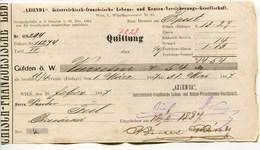 """Autriche Austria Österreich Ticket QUITTUNG """" AZIENDA """" Austria - France Society 1887 # 1 - Austria"""