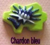 """Fève Védère Série """"Les Fleurs Des Pyrénées"""" Prime 2012 - Le Chardon Bleu - Regions"""