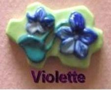 """Fève Védère Série """"Les Fleurs Des Pyrénées"""" Prime 2012 - Violette - Regions"""
